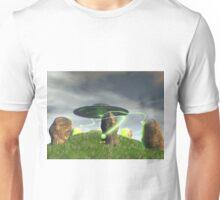 UFO and Ancient Stone Circle Unisex T-Shirt