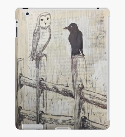 Owl and Raven  iPad Case/Skin