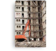 building demolition Canvas Print