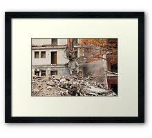 destroyed building Framed Print
