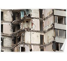 destroyed building Poster