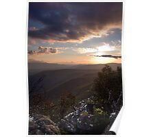 Sunset over Victoria Gap Poster