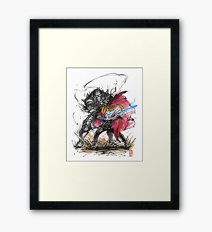 Tribute to Elric Brothers from Fullmetal Alchemist Framed Print