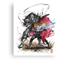 Tribute to Elric Brothers from Fullmetal Alchemist Canvas Print