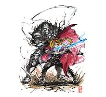 Tribute to Elric Brothers from Fullmetal Alchemist Photographic Print