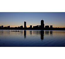 Boston Sunrise Rowers Photographic Print