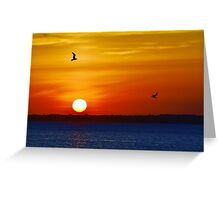 Red, Orange & Blue Greeting Card