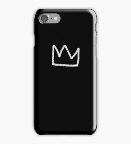 Crown in white iPhone Case/Skin