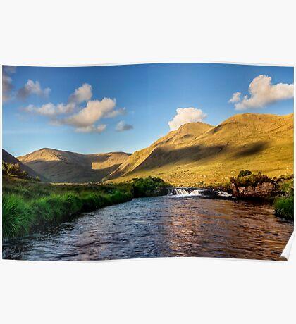 Bundorragha river Delphi Co.Mayo Ireland. Poster