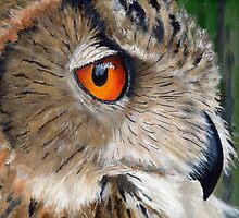 Eagle Owl by Mike Lester