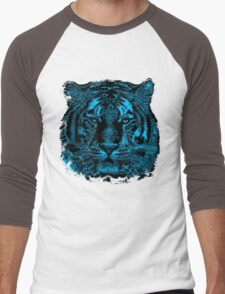 Tiger Face Close Up Men's Baseball ¾ T-Shirt