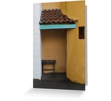 Porch Bench Greeting Card
