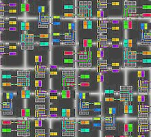 """Matrix Multiplication""© by Lisa Clark for Thinker Collection - STEM Art"