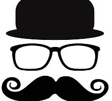 Invisible man with a big mustache by nadil