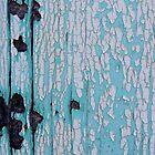 Bright turquoise wood by Karen Jayne Yousse