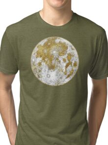 Golden Moon Pattern Tri-blend T-Shirt