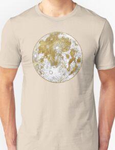 Golden Moon Pattern Unisex T-Shirt
