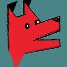 Origami Dog - red by Silvia Neto