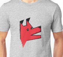 Origami Dog - red Unisex T-Shirt