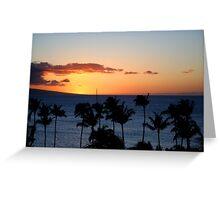 Hawaii Sunset, Maui Greeting Card