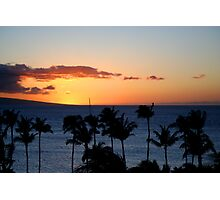 Hawaii Sunset, Maui Photographic Print