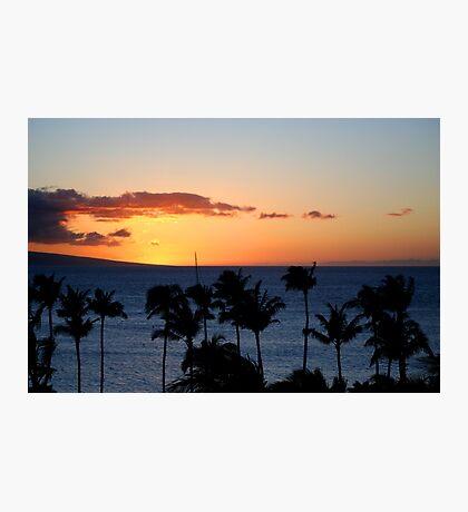 Hawaii Sunset, Maui Photographic Print