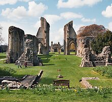Glastonbury Abbey ruins, Somerset, England by Grace Johnson