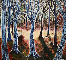 'THE LIGHT AT THE EDGE OF THE FOREST' by Jerry Kirk