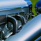 1936 Mercedes side action by Debbie-anne