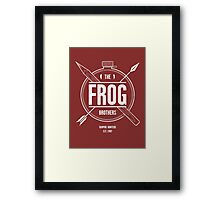 The Frog Brothers Framed Print
