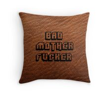 Bad Motherfucker Leather - Pulp Fiction Throw Pillow