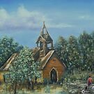 Old Country Church by Pam Humbargar
