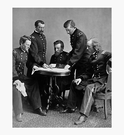 General Philip Sheridan And His Staff Photographic Print