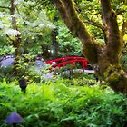 The Red Bridge - Japanese Garden - Butchart Garden - B.C. by Yannik Hay