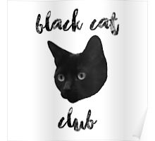 Black Cat Club - Henry Face Poster