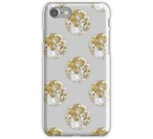 Golden Moon Pattern iPhone Case/Skin