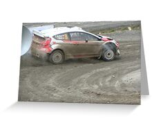 wales gb rally 2012 Greeting Card