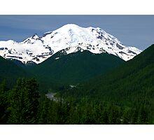 Mt Rainier Photographic Print