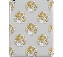 Golden Moon Pattern iPad Case/Skin
