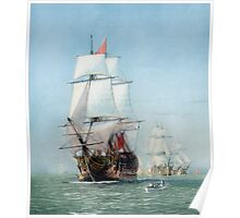 First Journey Of The HMS Victory Poster