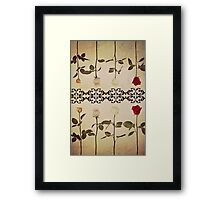 Coloured Roses. Framed Print
