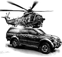 Rescue Chopper and Truck by olivercook