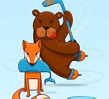 Fox tricked by the bear by mmedusssa