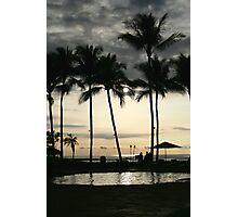 Hawaii Cloudy Palm Trees Photographic Print