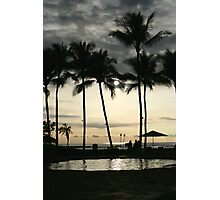 Hawaii Cloudy Palm Trees Photographic Print