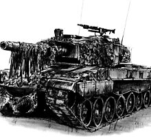 Leopard 2 main battle tank by olivercook