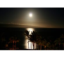 Moonlit Ocean Hawaii Photographic Print