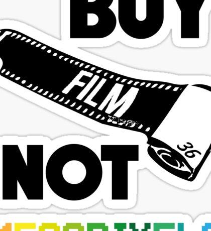 Buy Film Not Megapixels Sticker