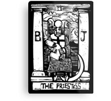 The Priestess  - Tarot Cards - Major Arcana Metal Print