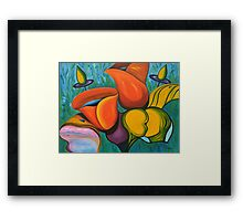 The enigma of a kiss Framed Print